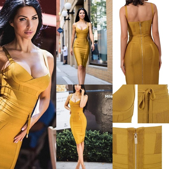 whoinshop Dresses & Skirts - BANDAGE DRESS Ginger Polyester